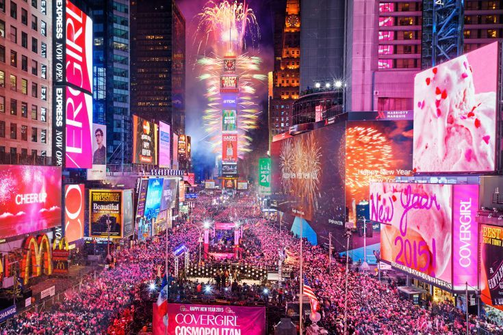 New Year's Eve 2015 à Times Square à New York