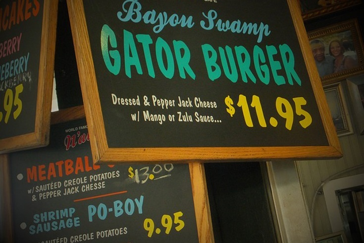 Alligator burger