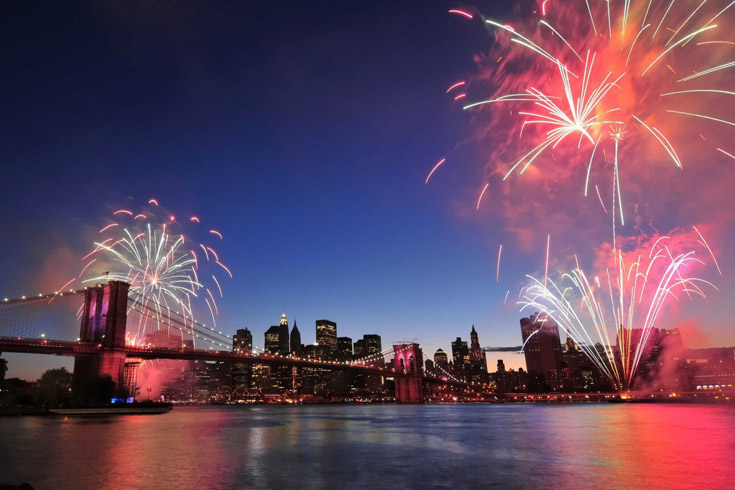 4 juillet new york - feux d'artifice