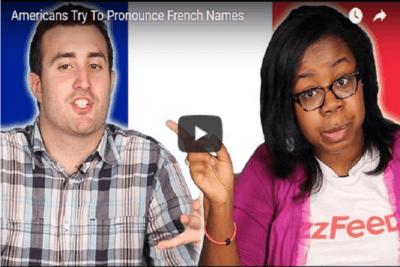 quand les américains tentent de prononcer des prénoms et noms Français accent