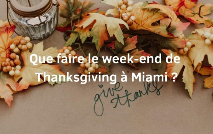 thanksgiving à miami