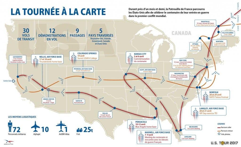 La Patrouille de France aux Etats-Unis pendant 1 mois et demi