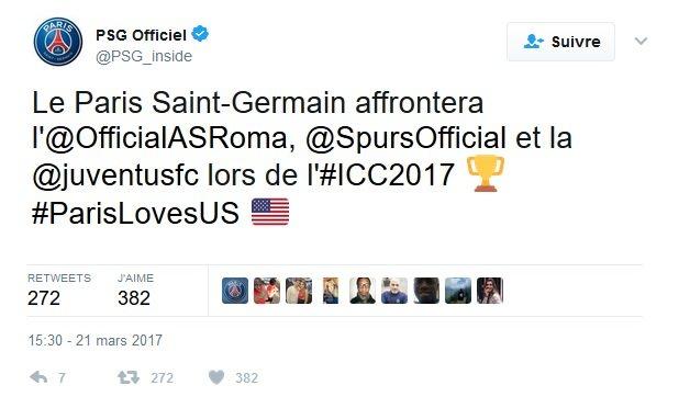 Le PSG disputera des matchs en Floride en juillet